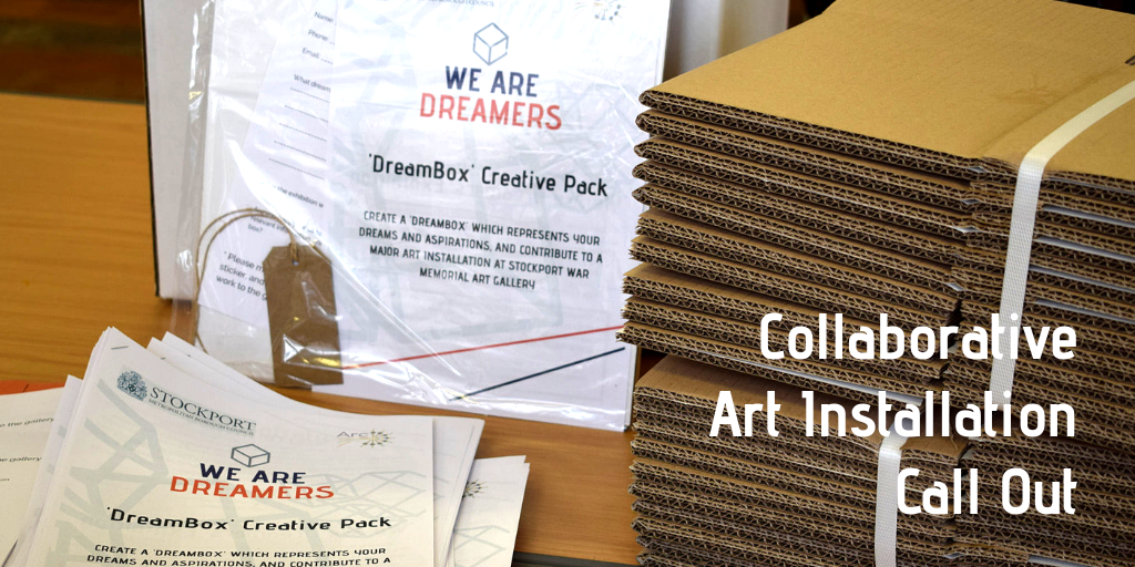 Stockport We Are Dreamers Open Art Installation